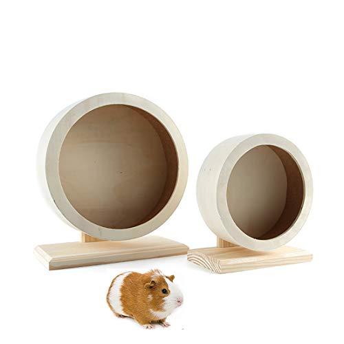 MQUPIN Laufrad aus Holz für Hamster, Laufrad, Laufrad, geeignet für Frettchen, Eichhörnchen, Chinchillas, Hamster, andere kleine Tiere