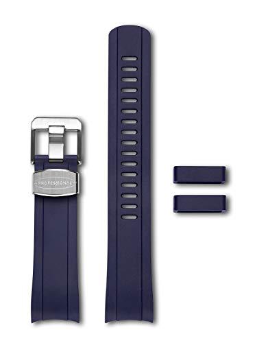 CRAFTER BLUE Correa Intercambiable del Reloj Extremo Curvado de Goma Compatible con Seiko Skx Series SKX007, SKX009 y SKX011, etc. y 5 Sports Series SRPD51K1, SRPD53K1, SRPD55K1, etc.