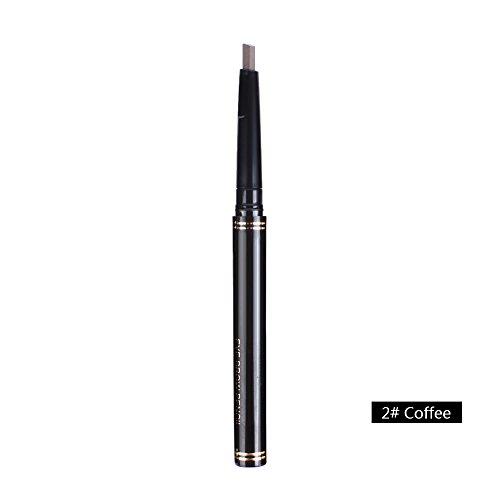ZHUOTOP Crayon de Sourcil Eyebrow Pencil Outil de Maquillage Imperméable Automatique, Café