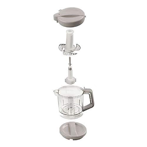Nuvita 1966 Pappasana Vapor Combo 6 In-1 Babynahrungszubereiter – Dampfgarer – Flaschenwärmer – Homogenisator – Entfroster – Stahlklingen Mixer – Babynahrung – Vaporisator – Italienisches Design - 3