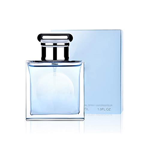 DQM Fragancias para Hombres, Spray de Perfume Azul Claro de Larga duración, Perfume Fresco Natural para Hombre, 30ml / 1oz