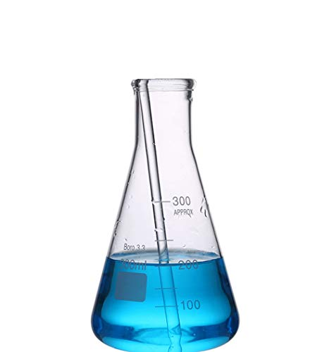 Glaskolben, Enghals Erlenmeyer, Borosilikat 3.3 Glaslaborflaschen Mit Becherpinsel, Für Labor