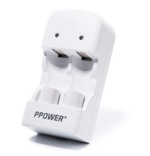 PPOWER CR2 Cargador para pilas recargables LiFePO4 CR2 15270 15266