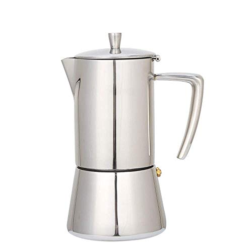 Waterkoker for koffie en thee 300ml 6-cup roestvrij staal Gasfornuis Moka Espresso Maker percolator Moka Pot Wide Bottom huis Hand Koffie Tea Pot Ketel for gas, elektrisch en Ceramic een kookplaat cof