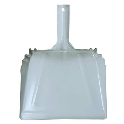 """OAKART Metal Dustpan 10"""" Steel Heavy Duty Precision Edge for Outdoor/Indoor (Gray)"""