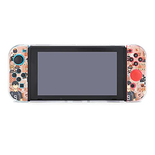 H-aikyuu Case Compatible with Nintendo Switch Case Screen Protector,TPU Protective Heavy Duty Cover Case for Nintendo Switch with Shock Absorption and Anti-Scratch.