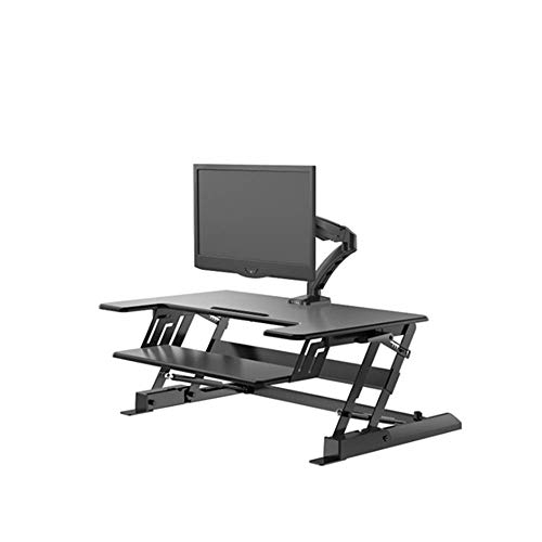MHO Computer Lift Tafel Stand-up Bureau Tafelblad Monitor Laptop Riser Platform Station Standing Bureau Converter- Hoogte Verstelbaar
