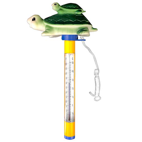 well2wellness® Poolthermometer Schwimmbad Thermometer Schildkröte