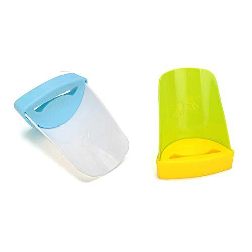 WANLIAN 2 unidades de extensor de grifo para niños, boquilla de extensión de baño, accesorios de bebé, grifos de ayuda para niños, adaptador de manguera azul, amarillo