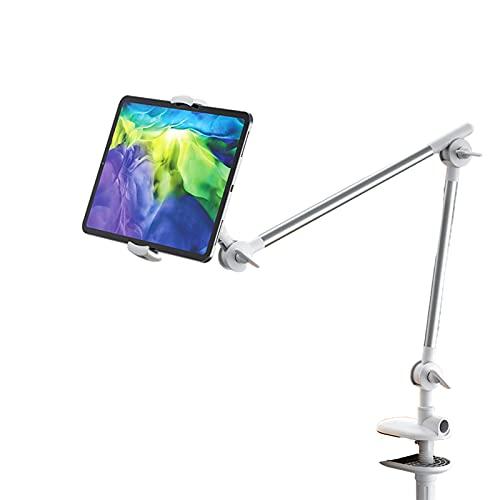 LAHappy Soporte para teléfono Celular Soporte de Tablet Multiángulo con Brazo Cuello de Cisne, Soporte para tabletas de 4'-11' Cama Mesa 360 Flexible