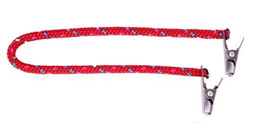 Clip de sujeción para gorros y cachuchas (rojo y azul)