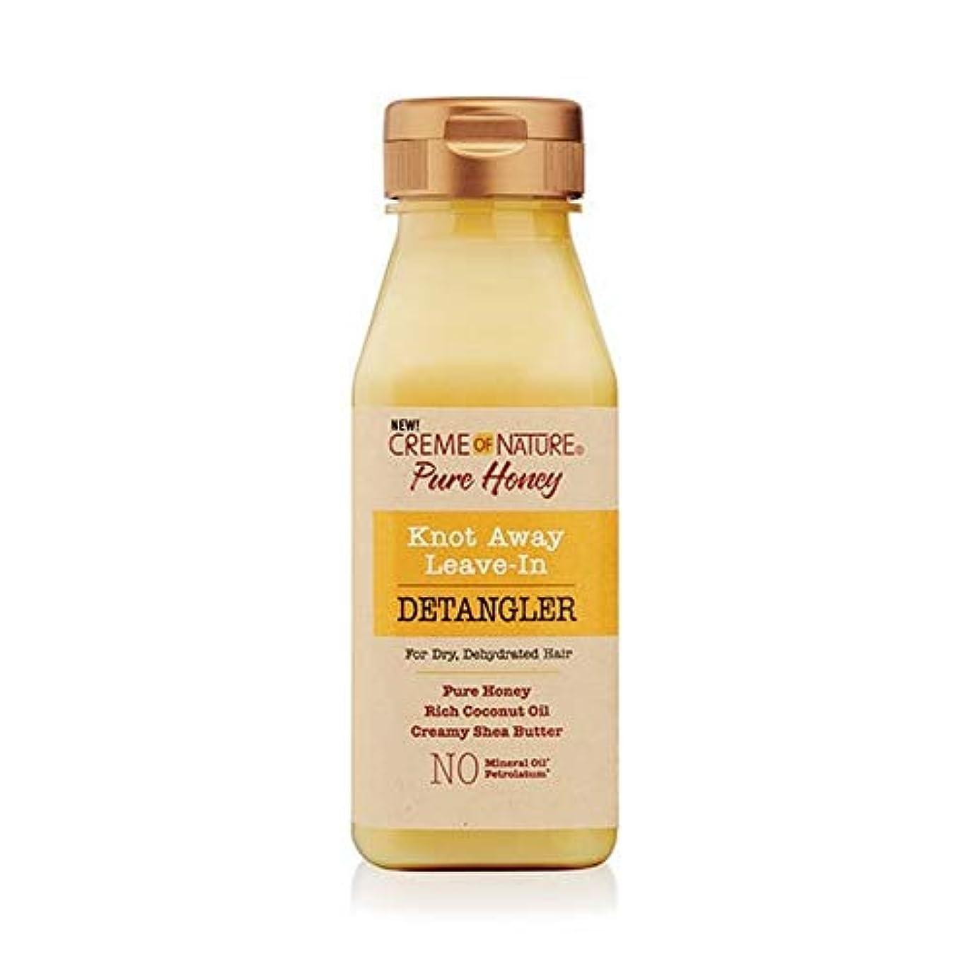 ベギン受け入れる見える[Creme of Nature ] 自然の純粋な蜂蜜の結び目のクリームは離れDetanglerに残します - Creme of Nature Pure Honey Knot Away Leave in Detangler [並行輸入品]