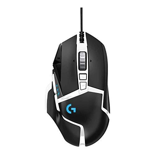 Logitech G502 HERO Special Edition Mouse Gaming dalle Prestazioni Elevate, Sensore HERO 16K, 16000 DPI, RGB, Pesi Regolabili, 11 Pulsanti Programmabili, Memoria Integrata, Mano destra, Bianco/Nero