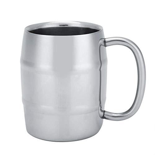 Telituny Coffee Cup-1Pc Taza de café de Doble Pared de Acero Inoxidable Taza de té de Cerveza con asa para artilugio de Cocina(350ML(1))