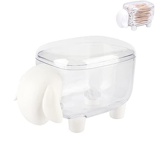 SOONHUA Wattestäbchen Aufbewahrungsbox Kunststoff Kosmetische Baumwolle Zahnstocherhalter Schafform Wattebausch Tupferhalter