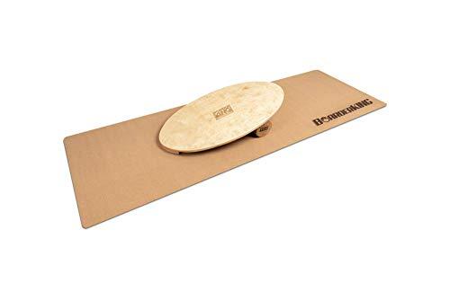 Indoorboard Allrounder Set Balance Board Surfboard Balanceboard (Raw Wood, 100 mm x 33 cm (Ø x L))