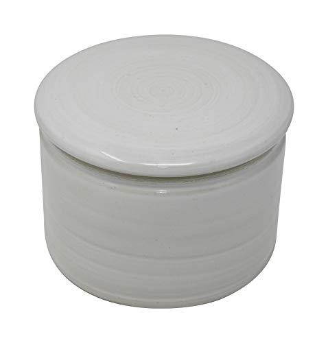 Original französische wassergekühlte keramik butterdose. Nie mehr harte butter zum frühstück. klein, ca 125 g butter, creme weiß Z-K