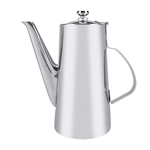 Tetera de acero inoxidable gruesa de 2 l, elegante tetera de té, café y agua para el hogar, restaurante y boquilla larga