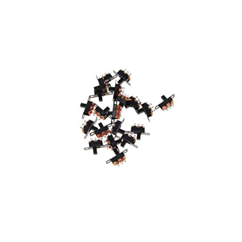 20pcs 2 Posición 3 Pines SPDT Micro Miniatura PCSB Interruptor Deslizante De Enclavamiento Del Selector Para El Pequeño Bricolaje Electronic Power Proyectos Negro