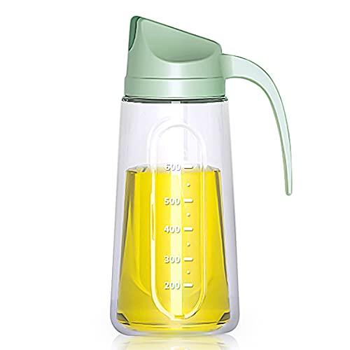Oil Dispenser Bottle for Kitchen, Automatic Flip Cap Cooking Oil Dispenser Bottle ,Non-Drip Spout ,25 OZ Glass Oil Bottle with Coasters, Suitable for Olive Oil, Vinegar, Soy Sauce, Maple Syrup
