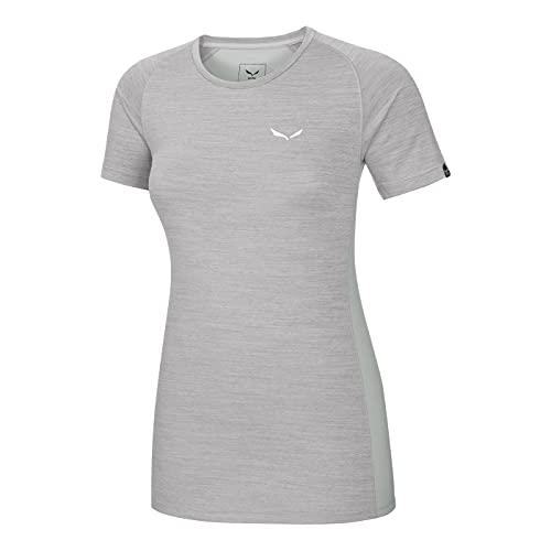 Salewa pedroc T-Shirt 2 Dry pour Dames. 44 Grey melange/0400
