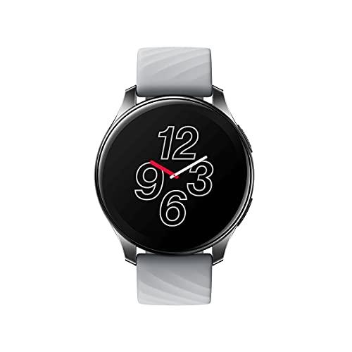 OnePlus Watch - Smart Watch Bluetooth 5.0 con durata della batteria di 14 giorni e resistenza all acqua 5ATM + IP68 - Moonlight Silver