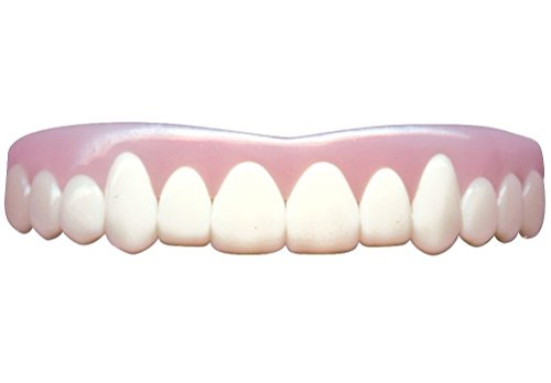 Imako Cosmetic Teeth 1 Pack. (Large, Bleached) Uppers Only- Arrives Flat. Fit at Home Do it Yourself Smile Makeover!