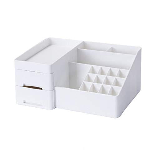 Family Needs Huishoudelijke artikelen Lipstick Rack Jewelry Desktop decoratieve kaptafel lade Type plastic opbergdoos (Color : White)