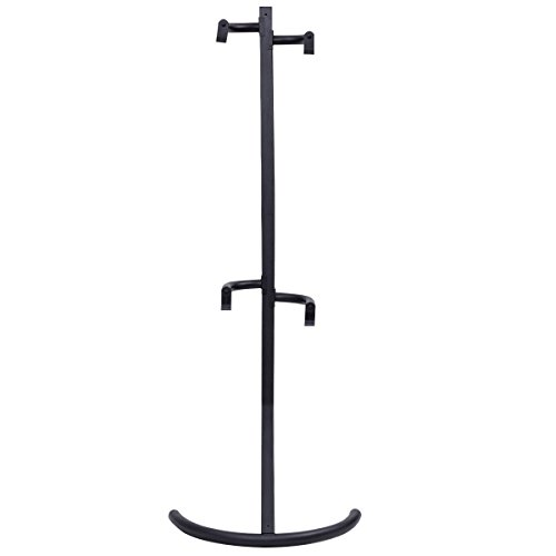 USA_BEST_SELLER Freestanding Gravity Double Bike Stand Rack for Two Bicycles