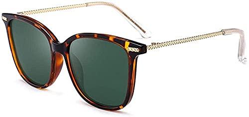 Gafas de sol para hombre y mujer polarizadas Gafas de sol Deportes al aire libre Conducción Equitación Playa Protección UV Gafas de sol UV400 Caja Grande Confort Unisex (Color: Dorado) - Negro