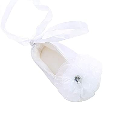 Bow Dream Baby Girl's Baptism Christening Shoes White LaceFlower 0-3 Months