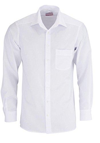 MARVELiS-Hemd MODERN-FIT (schmaler Schnitt) 4700 uni Extra langer Arm: Farbe: 00-weiss | Kragenweite: 40