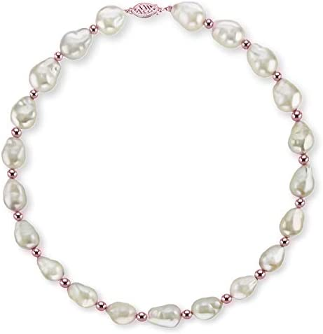10-12mm baroque pearl strand,loose white nuclear pearl necklace,large fresh water pearl strings.