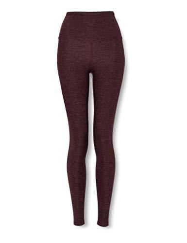 Marca Amazon - AURIQUE Mallas de Deporte Tiro Alto Mujer, Rojo (Port Marl), 36, Label:XS