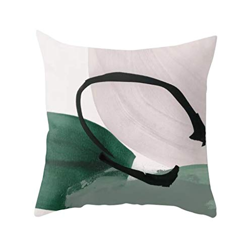Kissenbezug Fghyh Abstrakte geometrische Ölgemälde Serie Ultra Short Velvet Kissenbezug Sofakissen 45 x 45 cm(R)