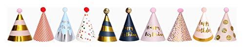 10PCS Happy Birthday Party Hats Cute Hats Kids Hats Unisex Adult Size Fancy Dress Party Hats(Style5)