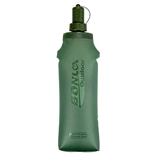 Cangad 折りたたみ 水筒 TPU ボトル ウォーターボトル スポーツボトル ハイキングハイドレーション 給水袋 ウオーターキャリー 水分補給 キャンプ サ イクリング ハイキング 狩猟 登山 掃除便利 500ML