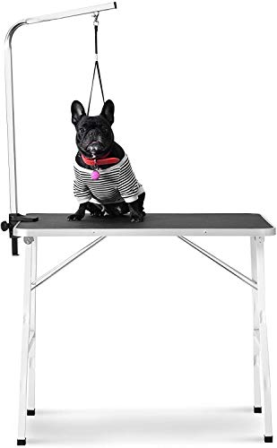 Ammy Foldable Pet Grooming Table with Adjustable Grooming Arm for Small Dog, Durable Heavy Duty, Maximum Capacity Up to 220 lbs (36 inch)