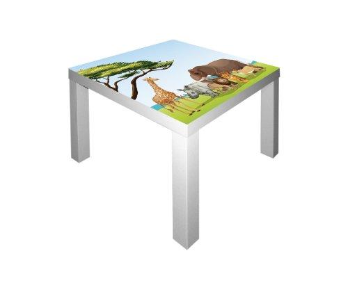 Tierwelt Afrika Aufkleber für den Tisch LACK von IKEA - IM182 - Möbel Nicht Inklusive | STIKKIPIX