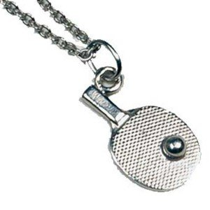 Catena + ciondolo piccola Racchetta in argento di ping pong tennis di...