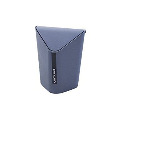Wicemoon Desktop-Mini-Abfalleimer, kreativer, dreieckiger Abfalleimer für Zuhause, Büro, Schreibtisch, Wohnzimmer. grau