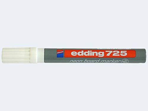 Neon Board Marker edding® 725, Keilspitze, Strichstärke 2-5mm, weiß