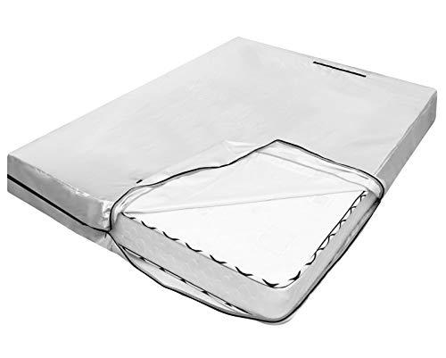 Nuovoware Bolsa Protectora de Colchón Extra Grande, Utilizada para Transportar y Almacenar, con 8 Asas de Elevación y Cremallera Resistente, Uso Repetidamente, Tamaño 208 x 160 x 38 cm - Plata