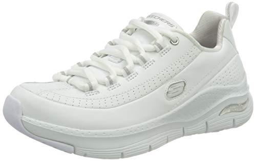 Skechers Arch Fit Citi Drive, Zapatillas Mujer, Blanco, 38 EU
