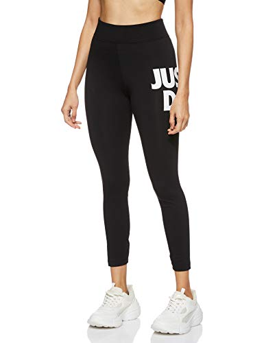 Nike Sportswear Leg-A-See JDI, Leggings a 7/8 Donna, Multicolore (Nero/Bianco), XS (IT 36-38)
