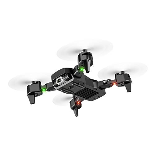 Folding Drone, Foldable Aerial High-Definition 4K Camera, Four-Axis Remote Control Aircraft Foldable,Black,4K Dual Camera