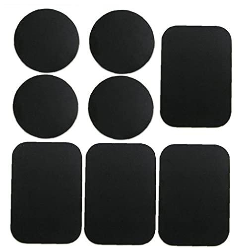 Tuimiyisou Placas de teléfono Placas de Metal del Montaje del Metal Coche de la Etiqueta Reemplazar por Negro