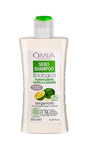 Omia Therapy Sebo Shampoo Ecobio Bergamotto - 200 ml