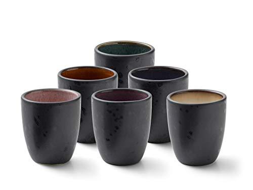 BITZ Espressotassen, Tassen-Set für Kaffee und Espresso, aus Steinzeug, 10 cl, Spülmaschinenfest, Set aus 6 Stück