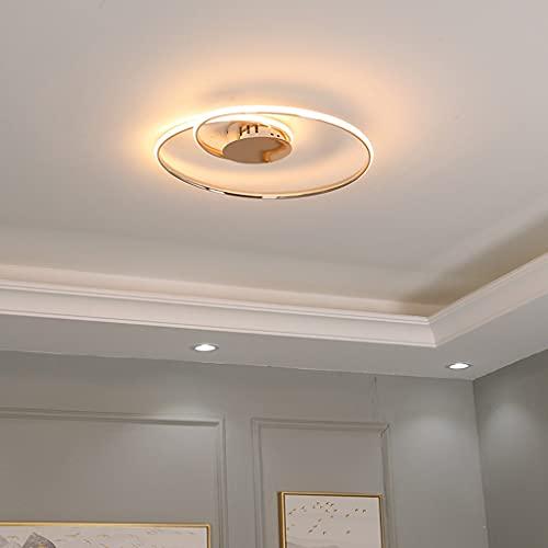 HGW Luces de Techo LED, Accesorios de iluminación empotrados Ronda Tradicional Cerca de Luces Araña Decorativa Utilizada en el Hotel Lobby Dormitorio Sala de Estar,53cm